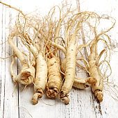 Ginseng separated isolated on white background