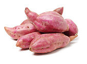 Sweet potato on white background