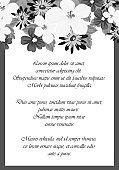 Frame monochrome of flowers. for card designs, greeting cards, birthday invitations, Valentine's day, party, holiday.