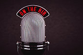 retro microphone  close-up