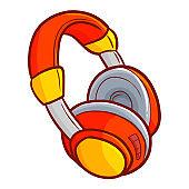 red futuristic headphone