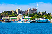 Rhodes city market and fortress