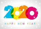 2020 Happy New Year card design