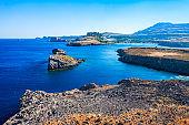 Lindos beach in Rhodes island