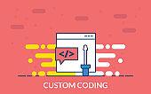 custom coding icon