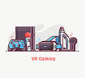 Augmented Virtual Reality Gaming Concept