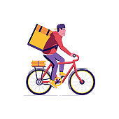 Bicycle Delivery Courier Man