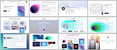 Vector templates for website design, minimal presentations, portfolio with with colorful abstract gradient blurs and geometric backgrounds. UI, UX, GUI. Design of header, dashboard and other forms.