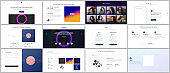 Vector templates for website design, minimal presentations, portfolio with abstract colorful infographics, minimalistic futuristic backgrounds. UI, UX, GUI. Design of header, dashboard and other forms