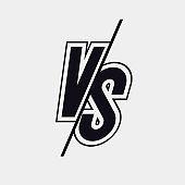 Vector versus sign modern style black color