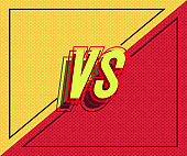 Vector versus banner with frame for battle