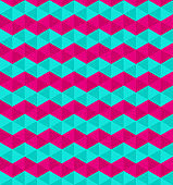 Retro style colors, simple zigzag pattern background.