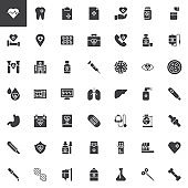 Medical elements vector icons set