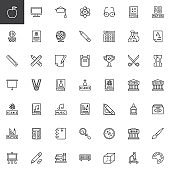 Line icons - Education