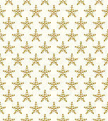 Christmas wallpaper with hand drawn snowflakes. Vector.