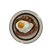 Fried egg and sausage