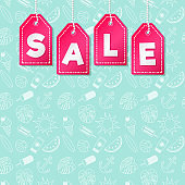 Summer Sale - template of poster with copyspace. Vector.