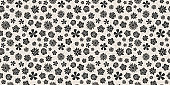 Springtime - floral pattern. Seamless texture with hand drawn flowers. Vector.