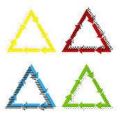Plastic recycling symbol PVC 3 , Plastic recycling code PVC 3. V