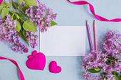 Mockup white greeting card  and envelope