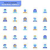 Simple Set People Avatar Flat Icons