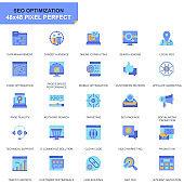 Simple Set Seo and Web Optimization Flat Icons