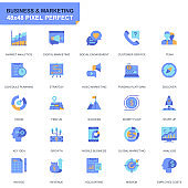 Simple Set Business and Marketing Flat Icons