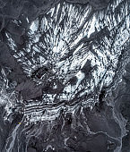 Aerial view of glacier.