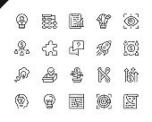 Simple Set of Business Startup Related Vector Line Icons. Linear Pictogram Pack.