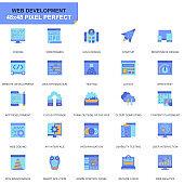 Simple Set Web Design and Development Flat Icons