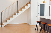Contemporary Bar Stools and Stairs