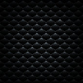 Black leather sofa cover. Vector luxury background.