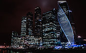 Moscow city, Russia. Moscow International Business Center