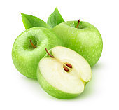 Isolated green apples