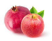 Pomegranate and apple