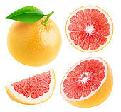 Isolated grapefruits collection
