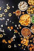 Variation unhealthy snacks