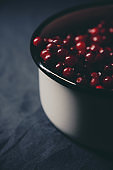 Abundance of ripe cranberries