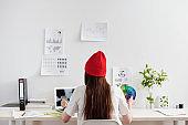 Designer working at the desk
