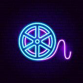 Film Reel Neon Sign