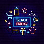 Black Friday Sale Neon Concept