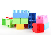 Plastic colorful toy blocks