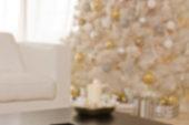 White christmas defocused