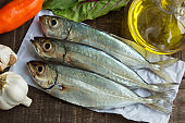 Raw sardines composition