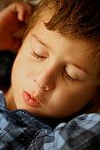 Sleeping kid portrait