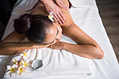 beautiful woman massage in spa