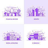 Flat line Purple Designed Concepts 5
