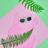 Fashion Hipster Accessories. Tropical Fern Leaves