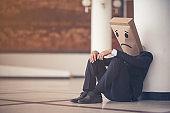 Business man sad