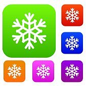 Snowflake set icon